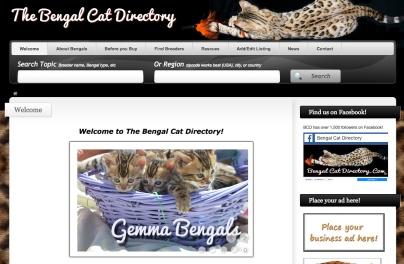 Portfolio Example - Bengal Cat Directory